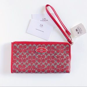 Coach Wristlet Wallet | Red, New with Tags